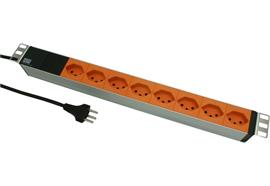 BACHMANN IT PDU 19 inch 1U 8xCH T13 orange