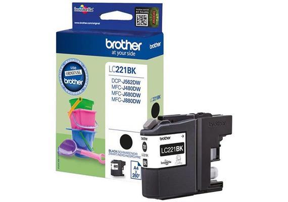 DKP Brother LC221BK black 260 Seiten
