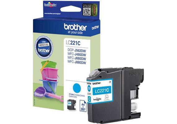 DKP Brother LC221C cyan 260 Seiten