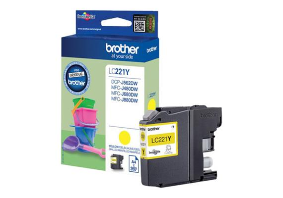 DKP Brother LC221Y yellow 260 Seiten