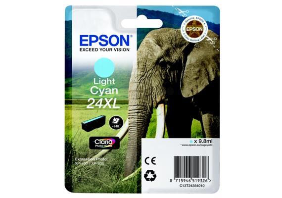 DKP Epson 24XL Tintenpatrone cyan hell T243540