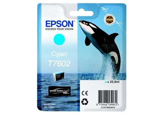 DKP Epson T7602 Tinte Cyan C13T76024010