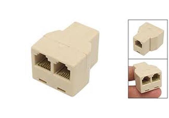 Drucker Netzw. Y-Adapter 3*Bu RJ11 12.01.1466