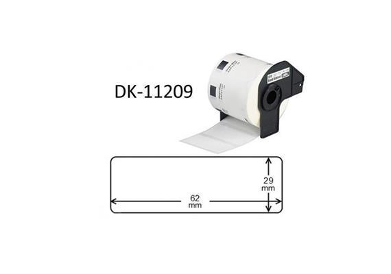 Etiketten Brother 29x62mm 800 Stck. DK-11209