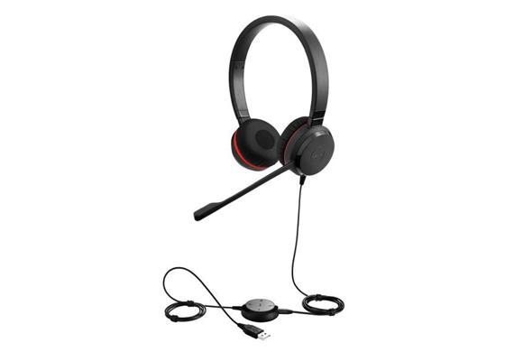Headset Jabra Evolve2 30 Duo UC sw USB. Klinke
