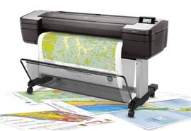"HP DesignJet T1700 A0+ 44"" InkJet Color W6B55A"
