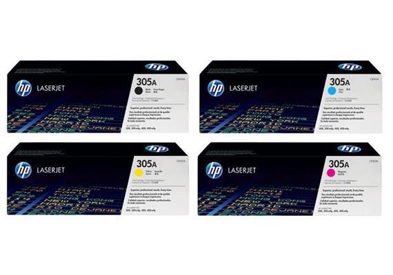 HP Toner 305A Rainbow Kit CMYK CE410A - CE413A