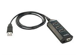 LINDY USB 2.0 Hub 4 Port with PSU