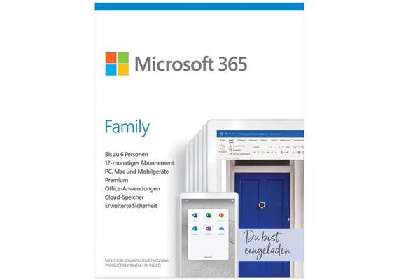 Microsoft 365 Family ESD Lizenz 1 Jahr