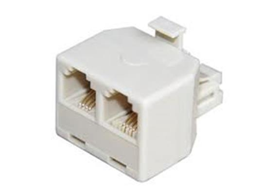 Modular-Stecker T-Adapter 2xBU/1xST 12.01.1266