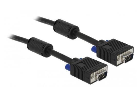 Monitorkabel Delock VGA-VGA M-M 5 Meter