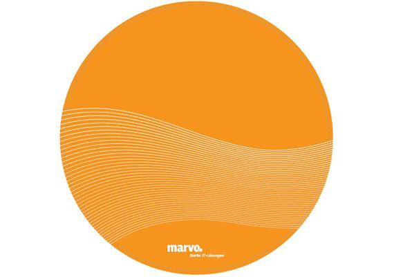Mousematte Marvo Slim Wave Design orange