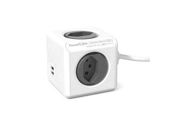PowerCube Tischsteckdosenleiste anthrazit