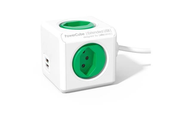 PowerCube Tischsteckdosenleiste grün