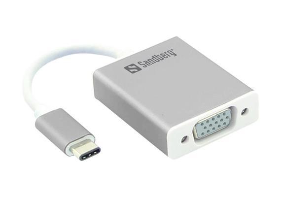 Sandberg USB-C auf VGA Adapter Kabel 136-13