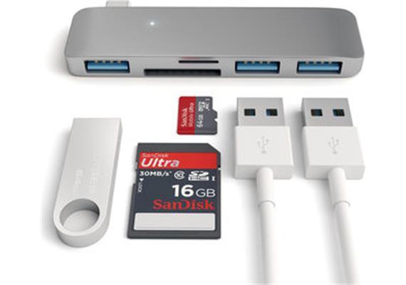 Satechi USB-C Combo Hub USB 3.0 ST-TCUHM