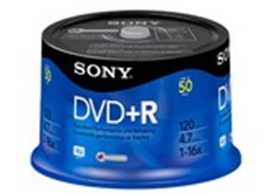Sony DVD+R 16x 50 Stk. Spindle 50DPR47SP