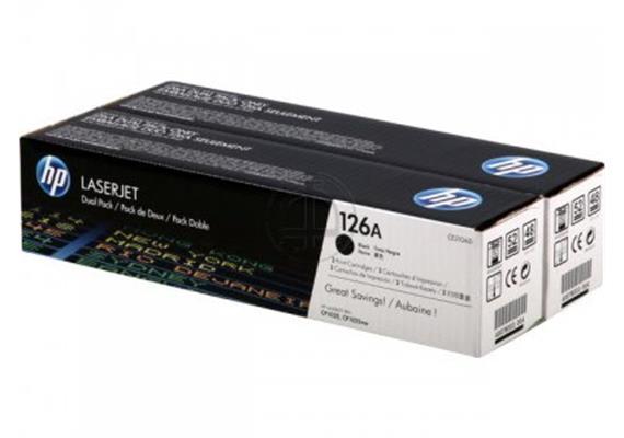 Toner HP 126A sw Dual Pa. LJ ca. 2x 1200S. CE310AD