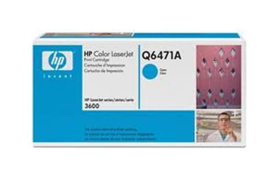 Toner HP Cartr. LJ col. cyan ca. 4'000S. Q6471A