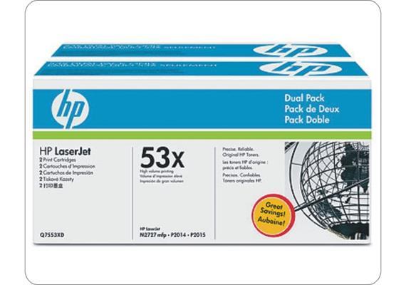 Toner HP Cartr. LJ P2015 sw ca. 7000S. 2er Q7553XD