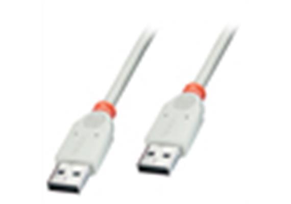 USB Kab. 0.8m Typ A->A M/F grau