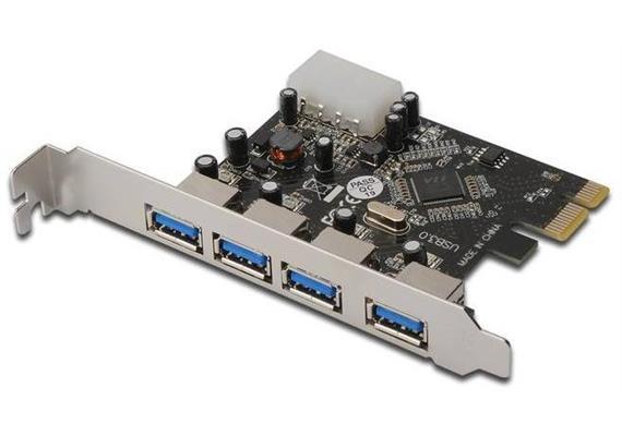 USB Karte PCIe 4 Port USB3.0 VL805 DS-30221