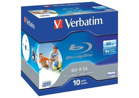 Verbatim BD-R Medien 50 GB 10er Jewelcase 43736